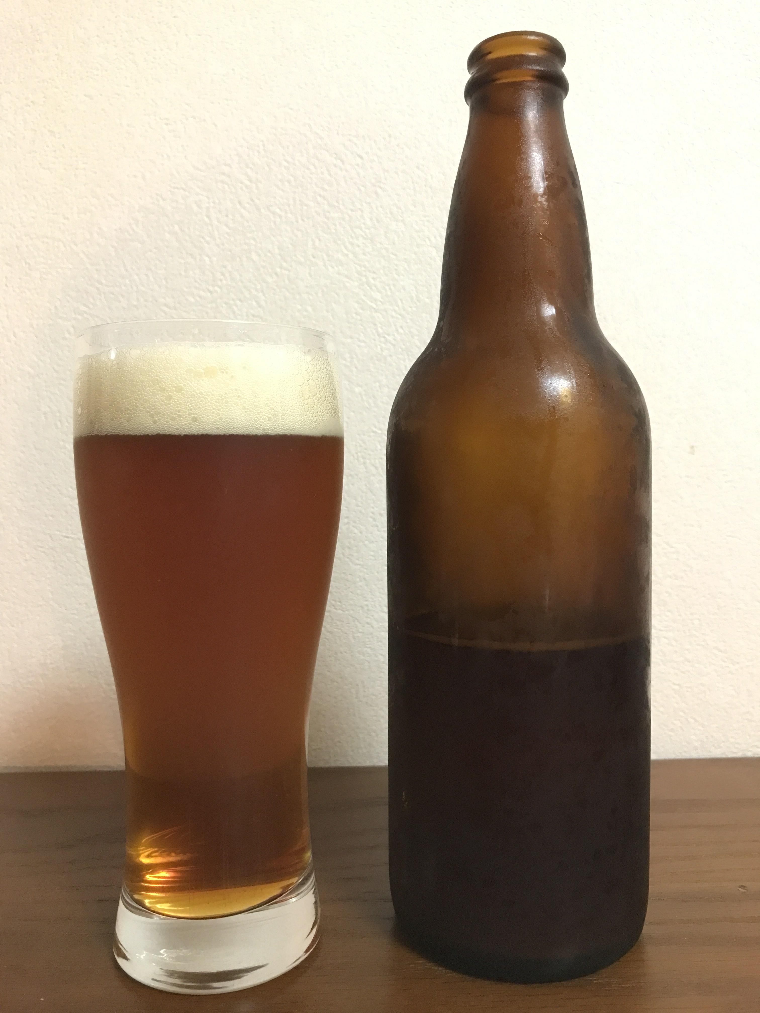 手作りビールできあがりIPA